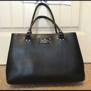 Kate Spade Black Leather Business tote